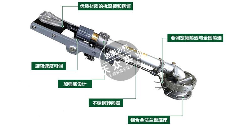 高压除尘水炮垂直摇臂式喷枪
